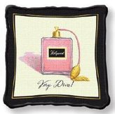Fine Art Tapestries Home Decorative Very Diva Pillow Cotton