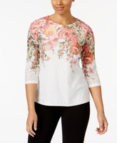 Alfred Dunner Petite Floral-Print Top