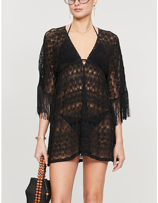 Missoni Chevron-pattern woven cover-up
