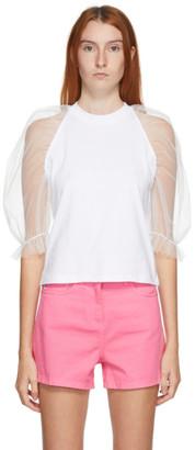 MSGM White Tulle T-Shirt