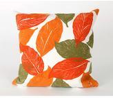 Visions I Mystic Leaf Pillow - Orange