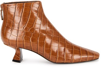 Mercedes Castillo Valerie 50 Crocodile-effect Ankle Boots