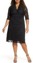 Kiyonna Scalloped Boudoir Lace Sheath Dress