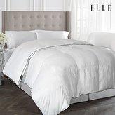 Elle 1000 Thread Count Cotton Rich Pinstripe Down Alternative Comforter, White, King