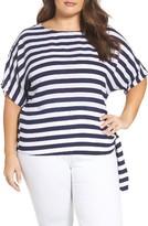 MICHAEL Michael Kors Plus Size Women's Stripe Side Tie Top