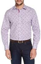 Tailorbyrd Kaj Regular Fit Floral Print Sport Shirt