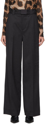 Ganni Grey Light Wool Trousers