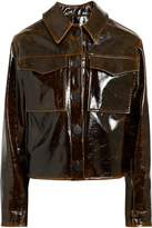 Beaufille Cracked Glossed Faux Leather Jacket