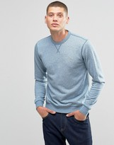 Farah Sweatshirt With F Logo In Regular Fit Blue Marl