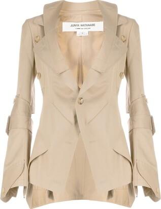 Junya Watanabe Button-Embellished Gabardine Blazer