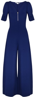 Stella McCartney Navy wide-leg stretch-knit jumpsuit