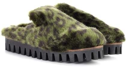 Ganni Gregor faux-fur slippers