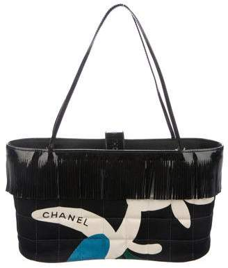 Chanel Quilted Canvas Fringe Tote