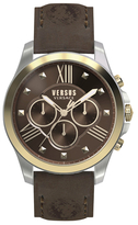 Versus By Versace Chronograph Lion Brown Dial Watch, 44mm