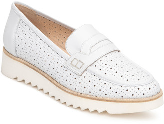 Nero Giardini Perforated Flatform Penny Loafers