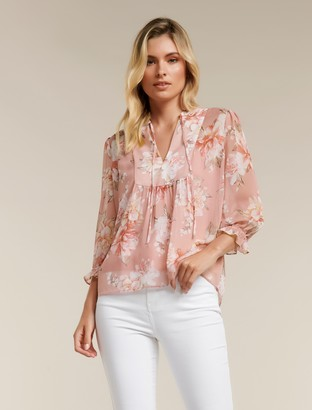 Ever New Tayla Tie Front Notch Collar Blouse