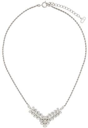 Christian Dior X Susan Caplan 1989 archive V-drop floral necklace