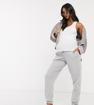 Missguided Maternity sweatpants in gray