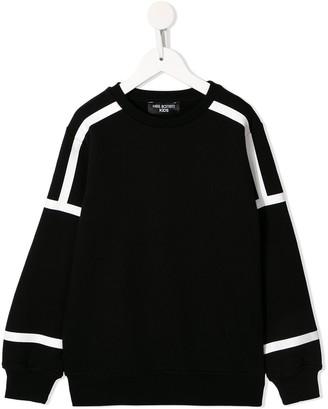 Neil Barrett Kids stripe detail sweatshirt