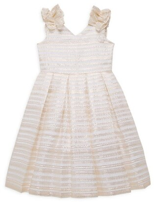 Janie and Jack Baby's, Little Girl's and Girl's Stripe Metallic Organza Dress