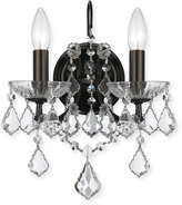 Swarovski Crystorama Filmore Two-Light Elements Crystal Bronze Sconce