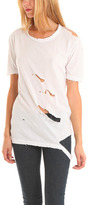 Ripped Tee in White