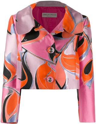 Emilio Pucci cropped printed jacket