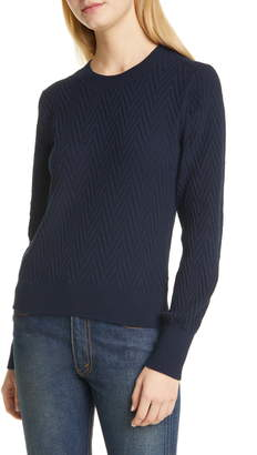 Club Monaco Chevron Texture Crewneck Sweater