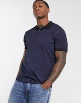 Bolongaro Trevor washed polo shirt-Navy