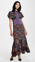 Anna Sui Paisley Fringe Maxi Dress