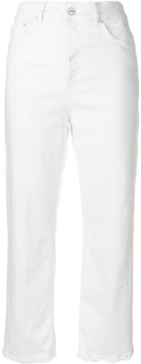 Dondup Logo Patch High Waisted Trousers