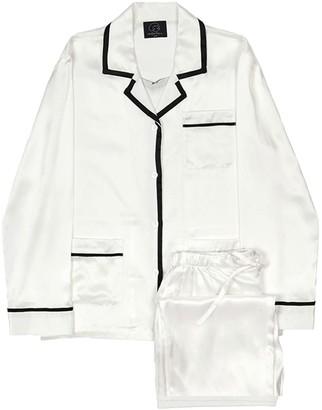 Coco Style Elegant Pajama 2 pieces Set - White