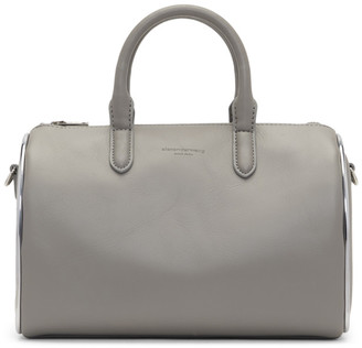 Alexander Wang Grey Small Halo Satchel Duffle Bag