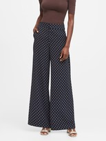 Banana Republic High-Rise Wide-Leg Polka Dot Pant
