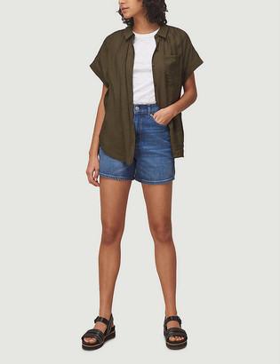 Whistles High-rise denim shorts