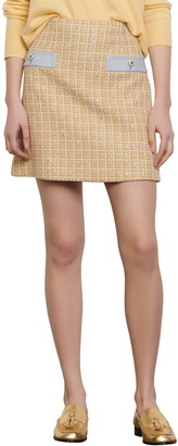 Sandro Melle Tweed Miniskirt