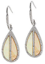 Mother of Pearl QVC Golden Mother-of-Pearl & White Topaz Sterling Earrings
