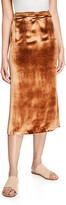 Vince Long Panne Velvet Wrap Skirt