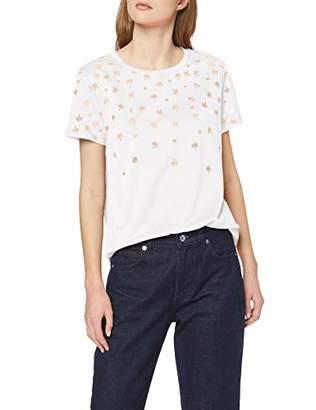 Scotch & Soda Maison Women's Short Sleeve Burnout Tee T-Shirt, (White 01)