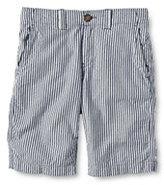 Lands' End Boys Husky Seersucker Cadet Shorts-Blue Seersucker Stripe