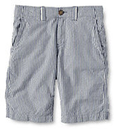 Lands' End Boys Slim Seersucker Cadet Shorts-Blue Seersucker Stripe