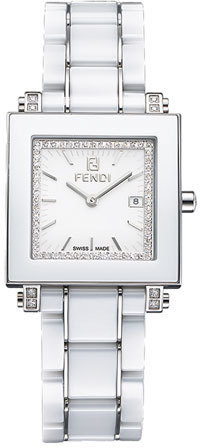 Fendi Ceramic Diamond Watch