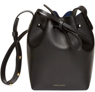 Mansur Gavriel Black Mini Mini Bucket Bag - Blu