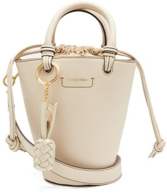 See by Chloe Cecilia Grained-leather Bucket Bag - Beige Multi