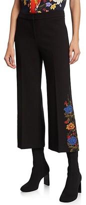 Kobi Halperin Satina Cropped Embroidered Pants
