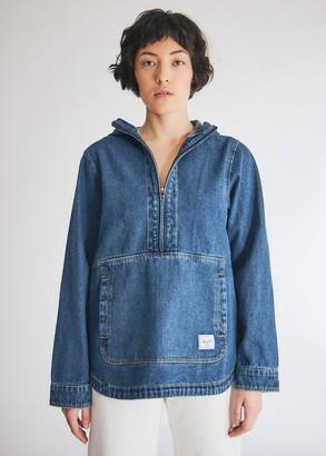 Herschel Women's Denim Anorak Jacket in Denim, Size Extra Small | 100% Cotton