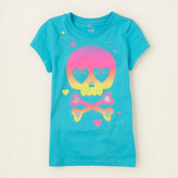 Children's Place Ombre skull graphic tee