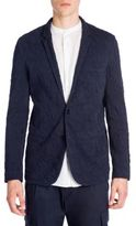 Emporio Armani Two-Button Cotton Jacket