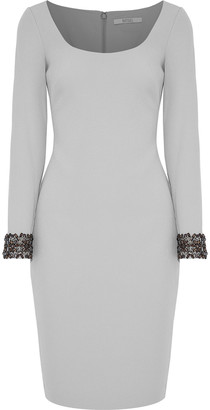 Badgley Mischka Embellished Cady Dress