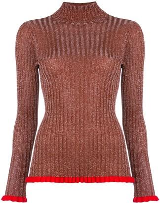 Chloé frilled turtleneck jumper